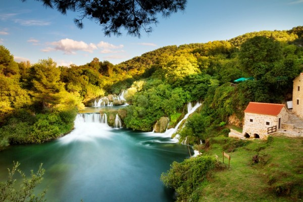 Krka Waterfalls, Sibenik and Wine Tasting Small Group Day Trip from Zadar